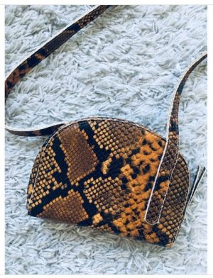 Designer Tasche mit Schlangenmuster Snakeskin Crossbody Bag