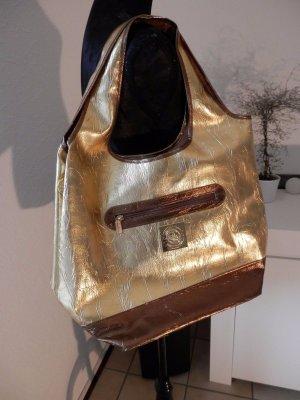 Designer TREND metallic Handtasche Schultertasche Shopper RICARDA Blogger Style