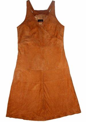Vogue Robe en cuir chameau cuir