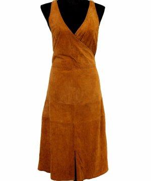 Vogue Skórzana sukienka camel Skóra