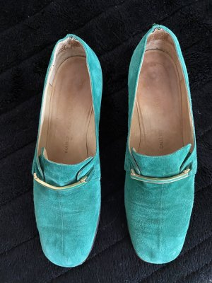 By Mário Valentino Buty wciągane zielony Skóra