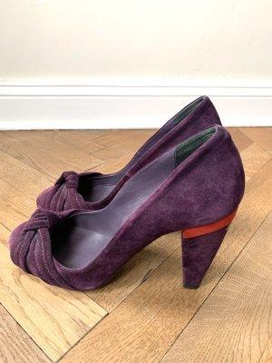 Designer Wildleder Pumps High Heels von Costume National C'N'C gr 38