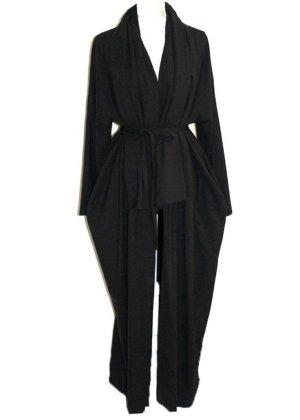Simple Coat black wool
