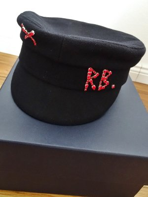 Ruslan Baginskiy Woolen Hat black-red wool
