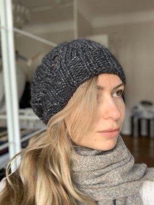 Designer Wollmütze Strickmütze von Kenzo in grau