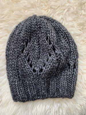 Kenzo Chapeau en tricot gris foncé
