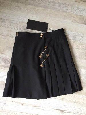The Kooples Miniskirt black-gold-colored wool
