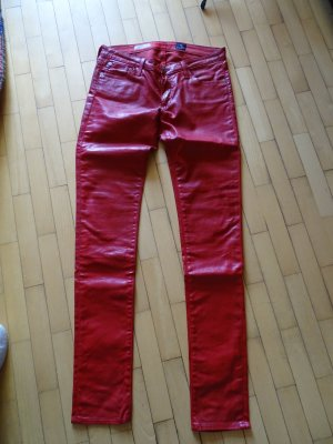 Adriano Goldschmied Jeans skinny rouge fluo-rouge brique coton