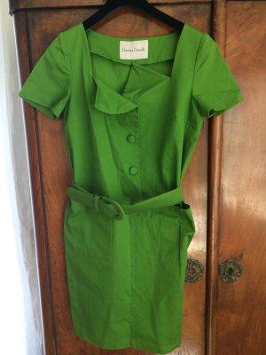 Gabardina tipo vestido verde oliva