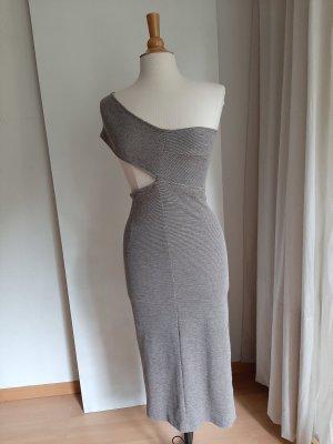 Maurie & Eve One Shoulder Dress grey brown