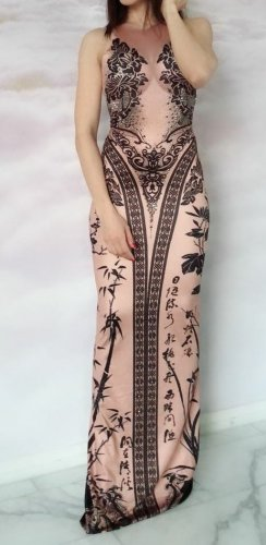 Crazy Outfits Maxi Dress rose-gold-coloured-black