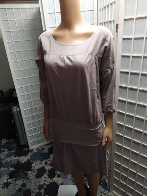Designerkleid Iheart Bioqualität lila Baumwolle und Seide minimalistisch S/M