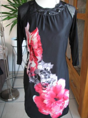 Biba Evening Dress black-neon orange