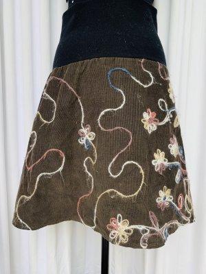 Das grüne Kleid Broomstick Skirt multicolored cotton
