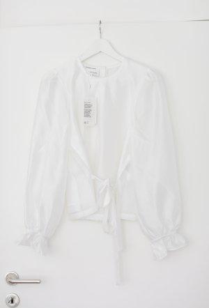 Designers Remix Bluse Weiß Rüschen Sustainable Gr. 38 Vintage Look Neu mit Etikett