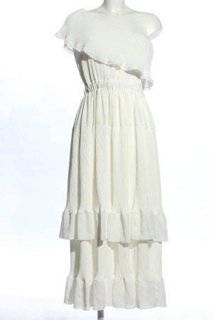 Designers Remix Charlotte Eskildsen Robe asymétrique blanc élégant