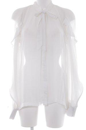 Designers Remix Charlotte Eskildsen Transparenz-Bluse weiß Elegant