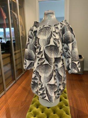 Designers Remix Charlotte Eskildsen Sukienka z rękawem balonowym biały-czarny