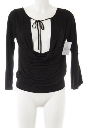 Designers remix collection Blouse à manches longues noir élégant