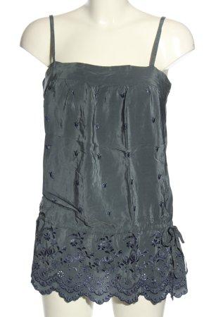 Designers remix collection Canotta a bretelle grigio chiaro-blu motivo floreale