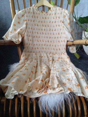 Karen walker Mini Dress cream-orange silk