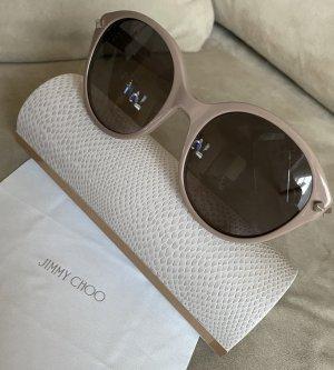 Jimmy Choo Lunettes de soleil ovales gris brun