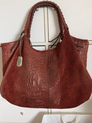 Borse in Pelle Italy Carry Bag bordeaux leather