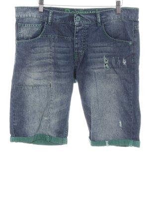 Desigual 3/4 Jeans blau-grün Casual-Look