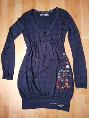 Desigual vestido de globo azul oscuro