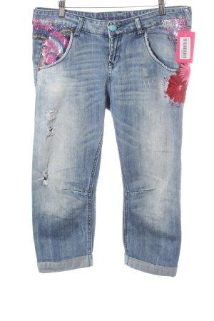 Desigual 7/8 Jeans hellblau-blau Mustermix Casual-Look