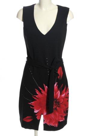Desigual A-Linien Kleid schwarz-weiß Blumenmuster Elegant