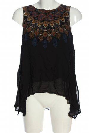 Desigual ärmellose Bluse grafisches Muster Casual-Look