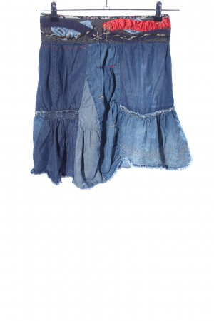 Desigual Asymmetrie-Rock blau Street-Fashion-Look