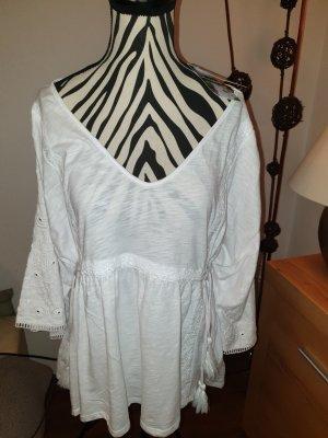 Desigual Koronkowa bluzka biały