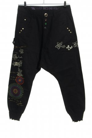 Desigual Baggy Pants black-white casual look