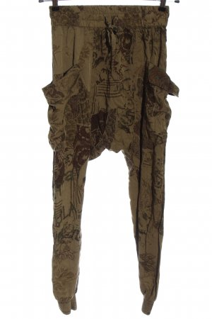 Desigual Baggy Pants braun abstraktes Muster Casual-Look
