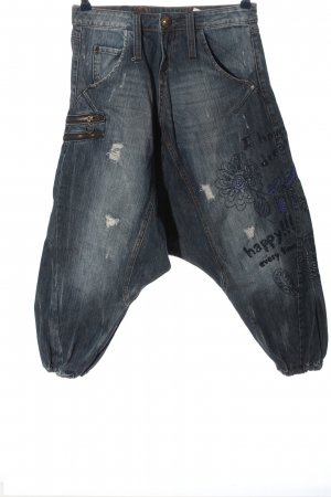 Desigual Baggy Jeans blue embroidered lettering casual look