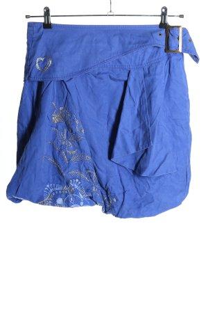 Desigual Balonowa spódniczka niebieski-jasnoszary Wzór w kwiaty W stylu casual