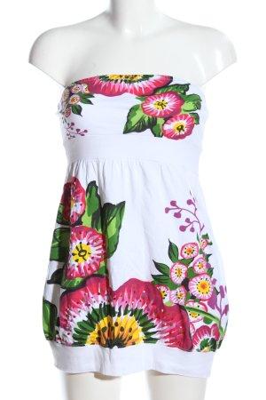Desigual Vestido bandeau estampado floral look casual