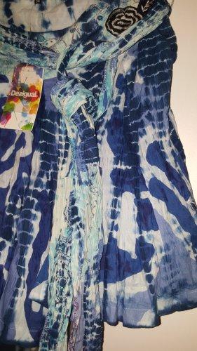 Desigual Batik Rock Gr. 38 NEU blau mit Bindeband