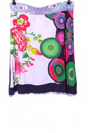 Desigual Broomstick Skirt abstract pattern casual look