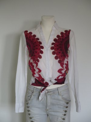Desigual Bluse Gr. S weiß rot neuwertig