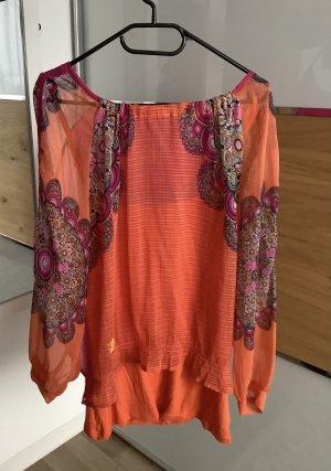 Desigual Carmen blouse neonoranje-roze