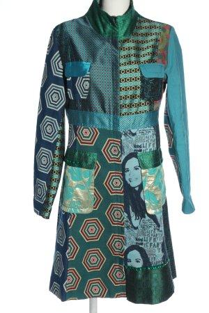 Desigual Długi płaszcz Graficzny wzór W stylu casual
