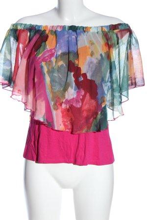 Desigual Blusa tipo Carmen estampado con diseño abstracto look casual