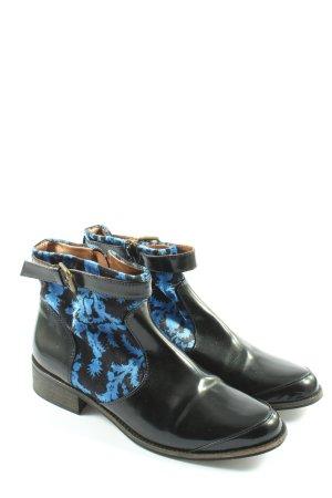 Desigual Chelsea Boot noir-bleu motif graphique style décontracté