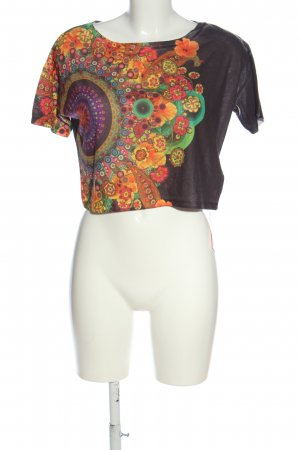 Desigual Cropped Shirt Allover-Druck Casual-Look