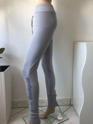 DESIGUAL Damen Sporthose Sweathose Leggings in Hellgrau Gr.S