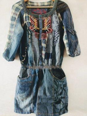 Desigual Robe en jean multicolore