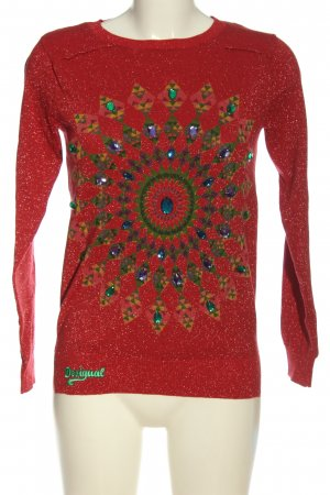 Desigual Feinstrickpullover grafisches Muster Casual-Look